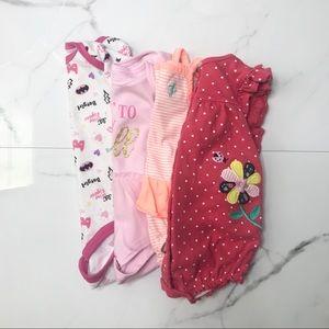 Bundle baby girl onesies bodysuits romper